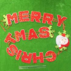 Giá Sốc Bộ dây chữ nhung Merry Christmas 3,5m trang trí giáng sinh  M&N Toys