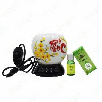 Bộ đèn xông Gốm Bát Tràng Miệng Tròn nhỏ-Tinh dầu tràm nguyên chất - 8827998 , VI606HLAA376SFVNAMZ-5588793 , 224_VI606HLAA376SFVNAMZ-5588793 , 370000 , Bo-den-xong-Gom-Bat-Trang-Mieng-Tron-nho-Tinh-dau-tram-nguyen-chat-224_VI606HLAA376SFVNAMZ-5588793 , lazada.vn , Bộ đèn xông Gốm Bát Tràng Miệng Tròn nhỏ-Tinh dầu tràm