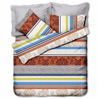 Bộ drap Indian Windsir 180 x 200 cm (Họa tiết kẻ sọc ngang)