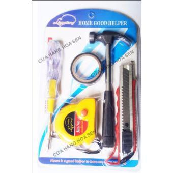 Bộ dụng cụ sửa chữa Vít, thước dao, búa
