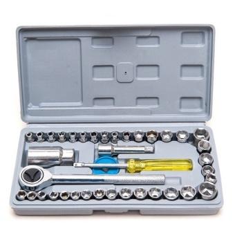 Bộ dụng cụ sửa xe khấu mở siết ốc và bugi 40 chi tiết - 8018716 , 2G003HLAA4AT6JVNAMZ-7845199 , 224_2G003HLAA4AT6JVNAMZ-7845199 , 238000 , Bo-dung-cu-sua-xe-khau-mo-siet-oc-va-bugi-40-chi-tiet-224_2G003HLAA4AT6JVNAMZ-7845199 , lazada.vn , Bộ dụng cụ sửa xe khấu mở siết ốc và bugi 40 chi tiết