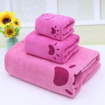 Bộ khăn tắm cao cấp gồm 3 loại cho trẻ em kiểu Hàn Quốc