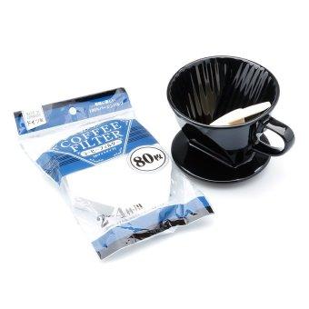 Bộ lọc cà phê và giấy lọc cà phê (Đen)