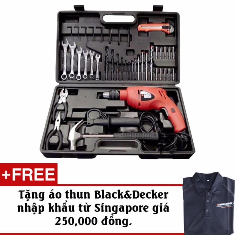 Bộ Máy Khoan 40 Chi Tiết-Black&Decker HD560K + Tặng kèm áo thun chính hãng Black&Decker