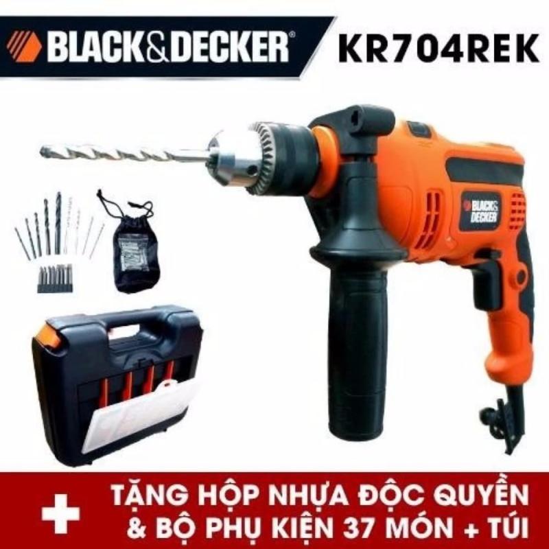 Bộ máy khoan cầm tay và 37 chi tiết BLACK&DECKER KR704RE
