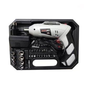 Bộ máy khoan kiêm vặn ốc vít 45 chi tiết có sạc tích điện BH-4802(Trắng)