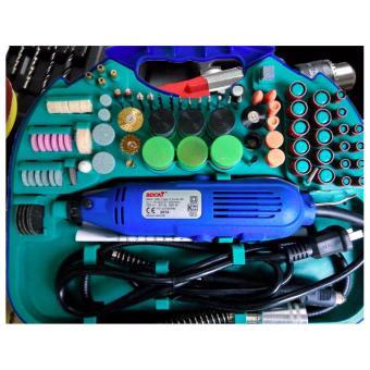 Bộ máy khoan mài cắt khắc đa năng nhiều chi tiết(Mầu xanh)