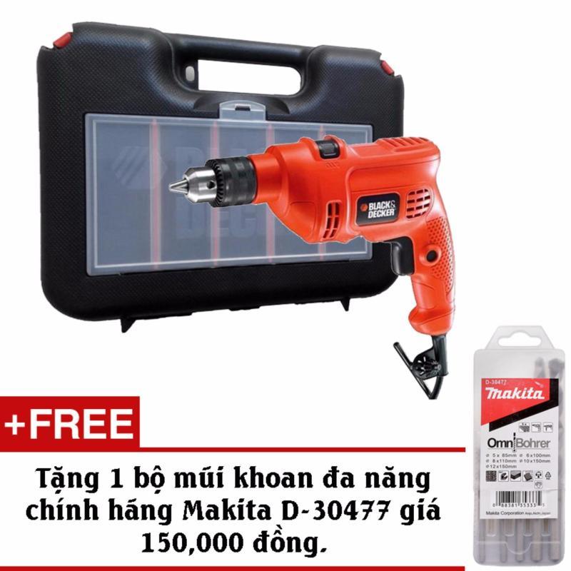 Bộ máy khoan và 37 chi tiết BLACK & DECKER KR504RE+Tặng kèm bộ mũi đa năng Makita D-30477