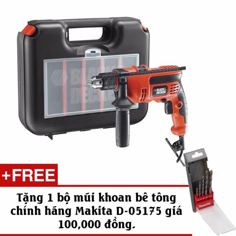 Bộ máy khoan và 37 chi tiết BLACK & DECKER KR704RE + Tặng kèm bộ mũi khoan bê tông Makita D-05175