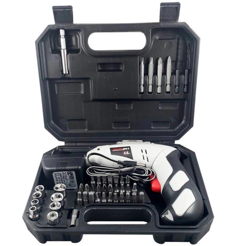 Bộ máy khoan và vặn ốc vít kèm 45 chi tiết có sạc tích điện JOUST MAX