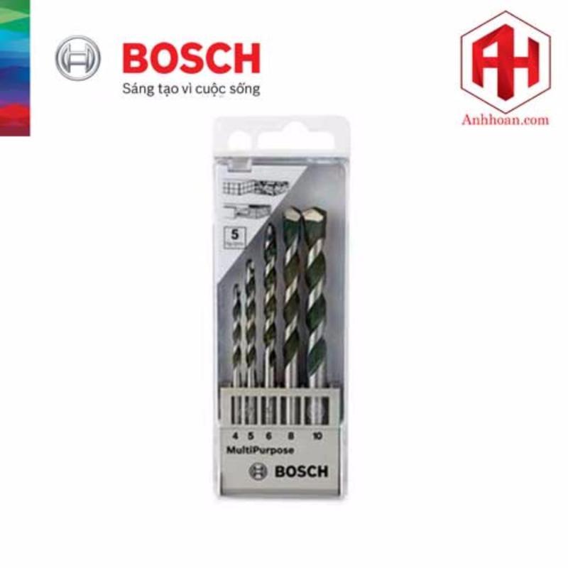 Bộ mũi khoan đa năng 5 cây Bosch(4/5/6/8/10mm)