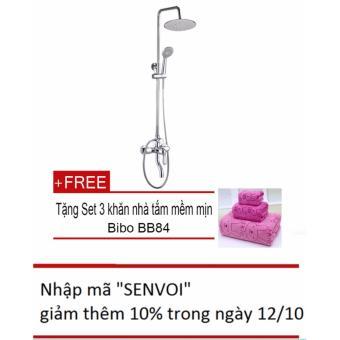 Bộ sen cây tắm Zento ZT-ZS8112 + Tặng bộ 3 khăn