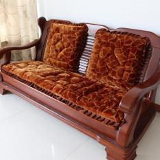 Bộ thảm trải ghế gỗ cao cấp dày không trơn (nâu)