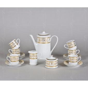 Bộ trà sứ trắng mạ vàng