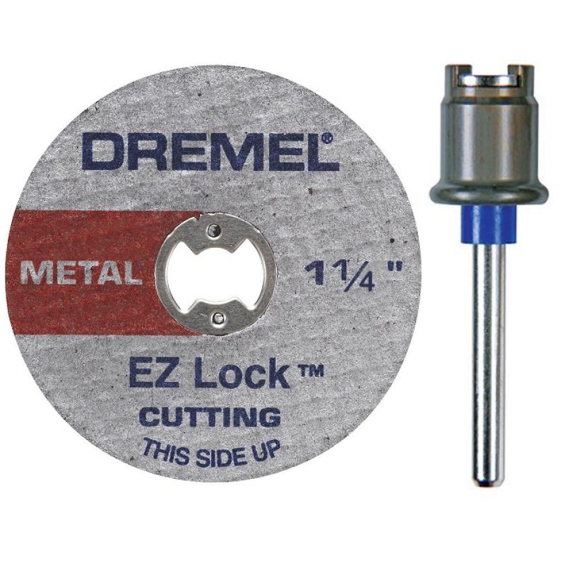 Bộ trục và đĩa cắt kim loại 32 mm EZ Lock Dremel EZ404-01