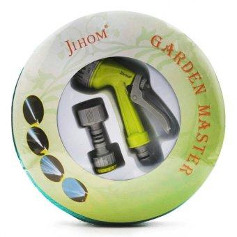 Bộ vòi xịt đa năng dây 10m Jihom tưới cây rửa xe TI093 (Xanh lácây)