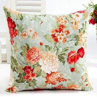 Bọc gối sofa họa tiết hoa - Màu xanh lá - Quốc tế
