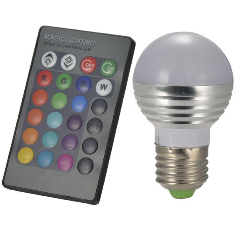 Bảng giá Mua Bóng đèn LED đổi màu có điều khiển từ xa Homematic RGBLED-3