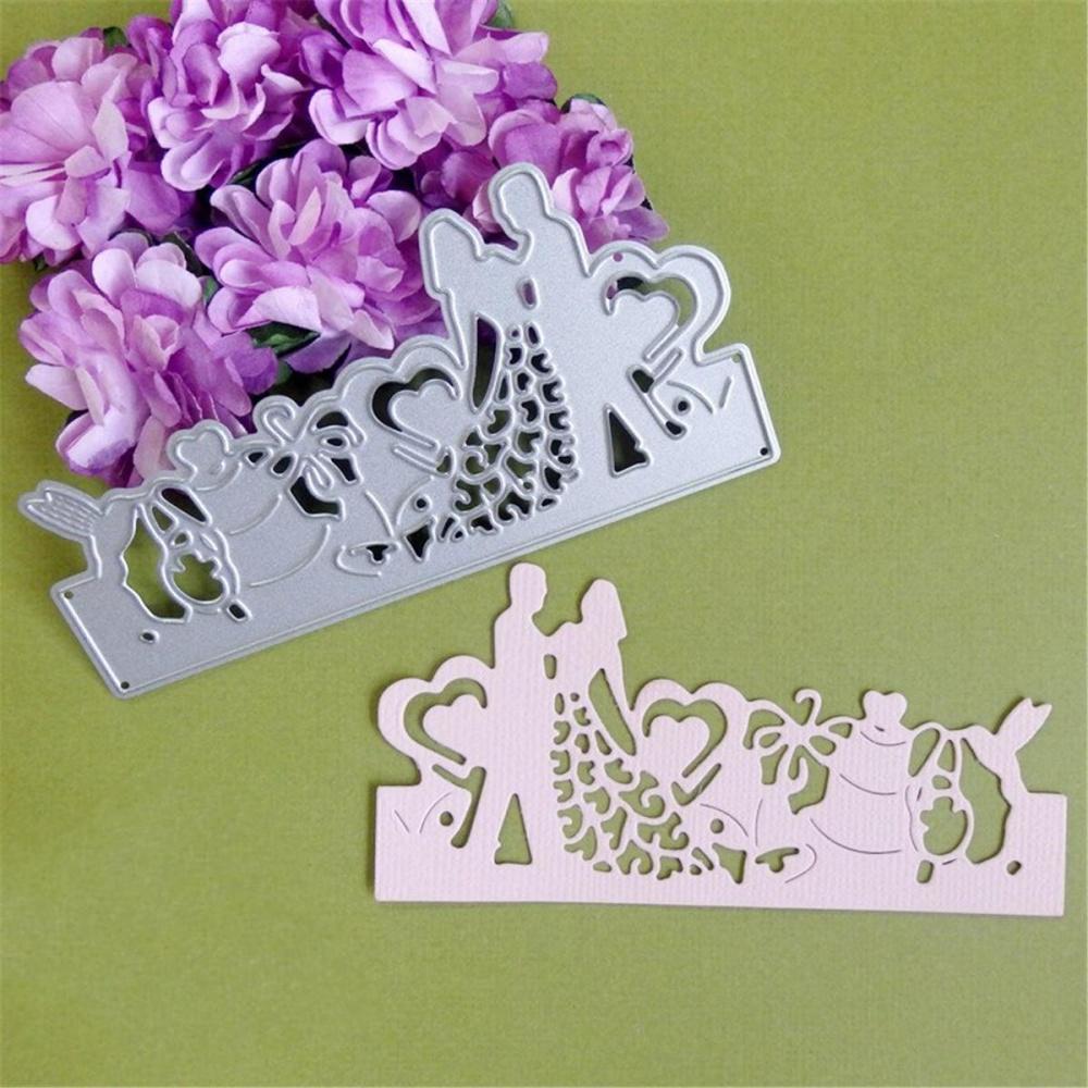 ... Bride Groom Wedding Die Cutting Dies Stencils DIY Scrapbooking Card Album Paper - intl ...