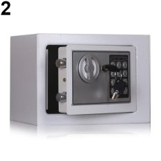 Broadfashion Mini Electronic Safe Security Box Case Jewelry Cash Storage Password Strongbox (Silver Grey) - intl