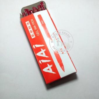 Bút mực nước màu đỏ - Hộp 10 cây Thanh khang 008000003