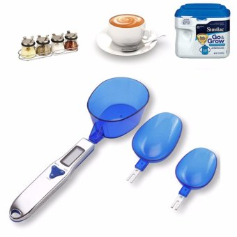 Cân điện tử mini đong đồ ăn dặm cho bé - Bộ 3 thìa đo + Tặng hộpđựng tăm bằng nhựa cao cấp VegaVN