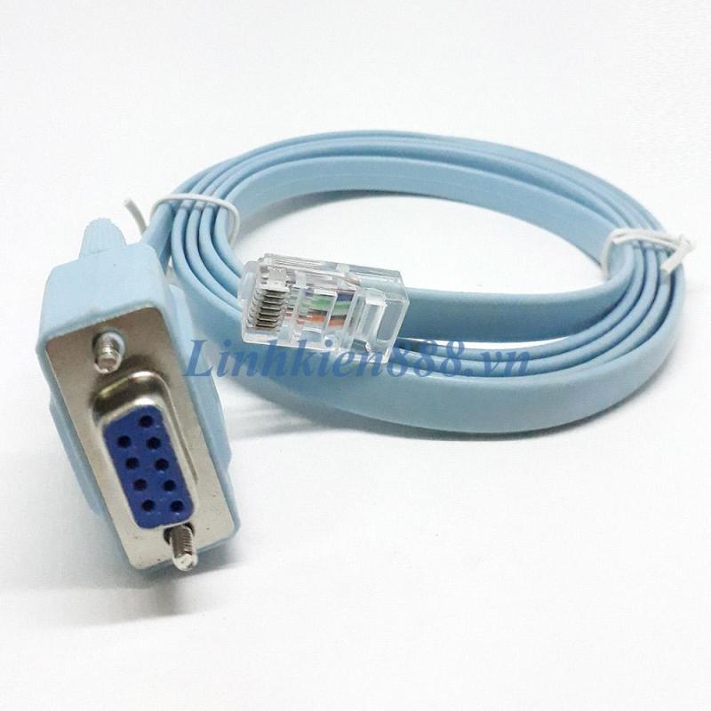 Bảng giá Cáp RS232 DB9 cái sang RJ45 dài 1.5m dùng để cấu hình router cisco