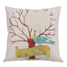 Giá Sốc Cartoon Bird Pattern Cotton Pillow Cover   welcomehome