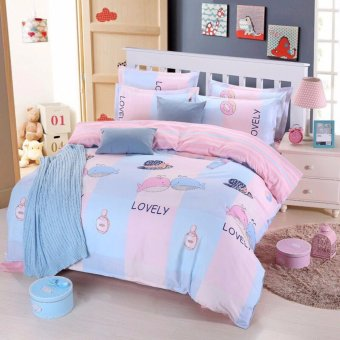 Chăn Ga Gối Cotton poly 4 set 1m8