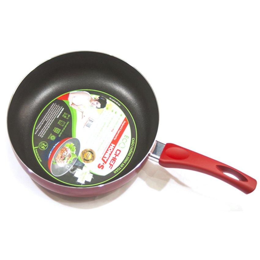 Chảo chống dính Eco Chef Eco-AF1N221 22cm (Đỏ)