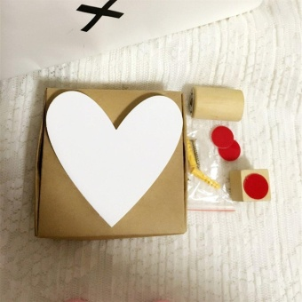 CHEER Wooden Love Hook Children Room Hanging Wall Hook Decoration Heart Shaped Hook White - intl