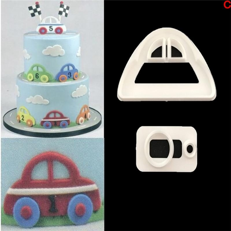Cocotina Silicone 3D Cars Fondant Cake Chocolate Mold MouldModelling Decorating - intl