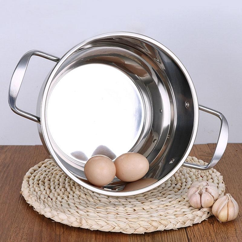 Cocotina steel cover soup pot bottom stainless steel double handlepot - intl