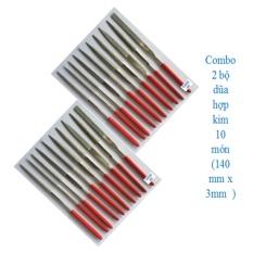 Combo 2 bộ dũa hợp kim mini 10 món 3 x 140 mm