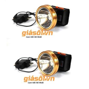 Combo 2 Đèn pin đeo trán,đội đầu bóng LED siêu sáng chống nước