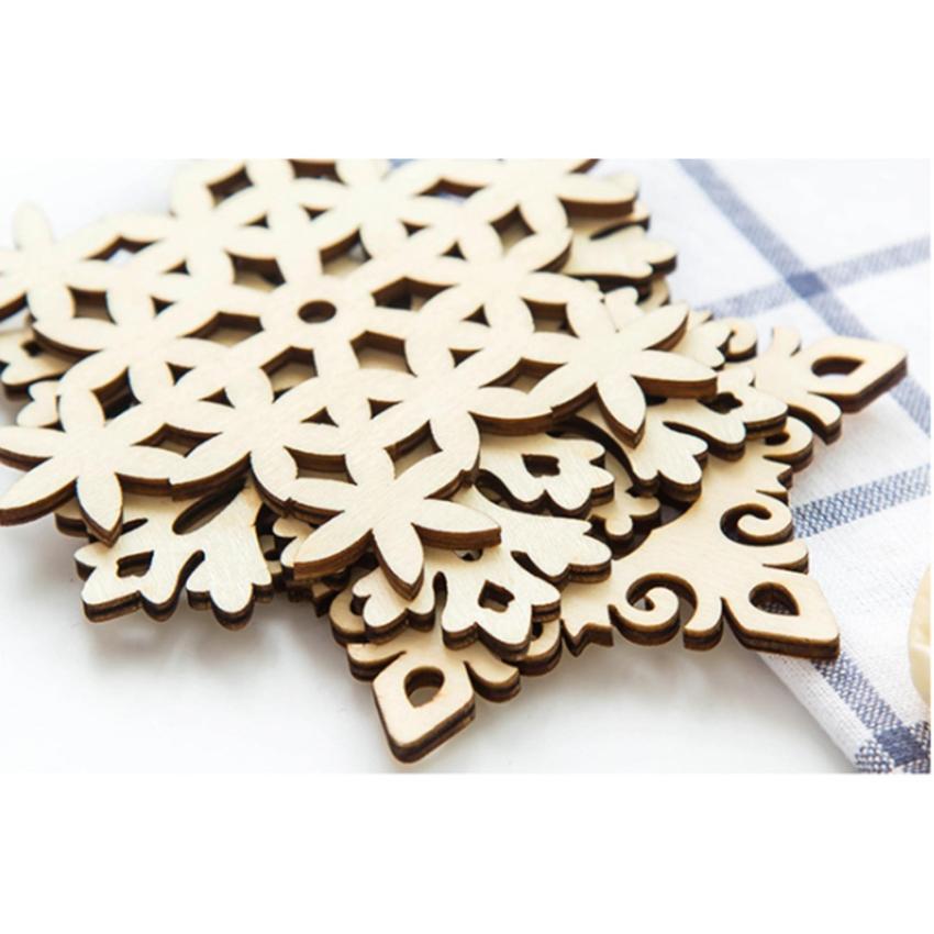 Combo 5 miếng đế lót ly gỗ họa tiết bông tuyết