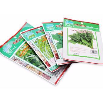Combo hạt giống 4 loại rau lá giàu vitamin: Rau muống-cải thìa-bóxôi-cải mầm - 2