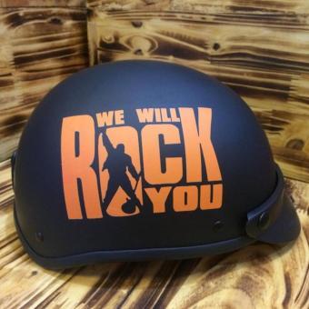 Combo Mũ Phượt 1/2 Đầu Tem Rock và Kính UV400