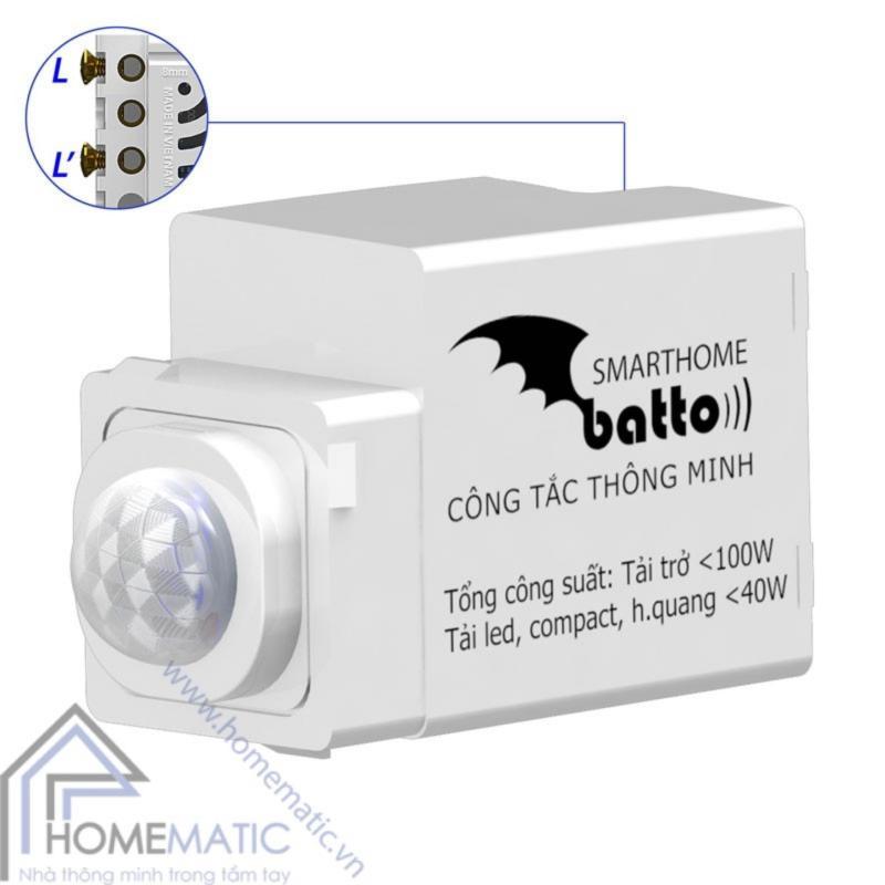Công tắc cảm biến chuyển động hồng ngoại BATTO BTX-2C-PIRV1 (hạt tròn)