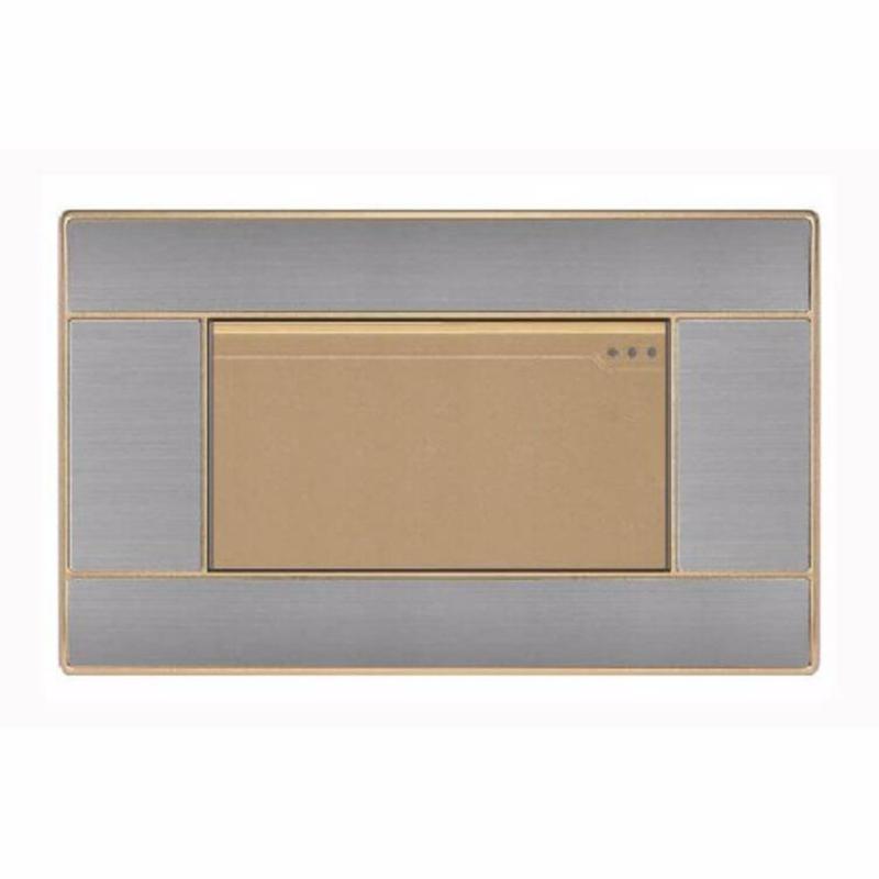 Bảng giá Công tắc đơn 1 chiều hạt lớn 16A mặt hình chữ nhật KLASS series 118KB7 (gold)