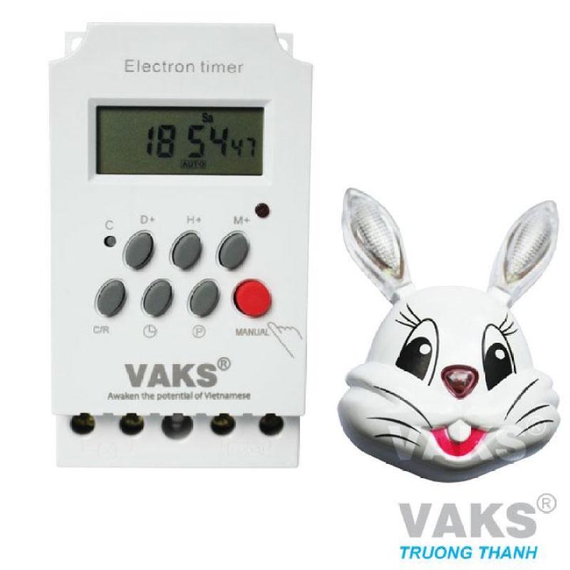 Công tắc hẹn giờ 17 chương trình VAKS KG316T-II + tặng 01 đèn ngủ cảm ứng mặt thỏ