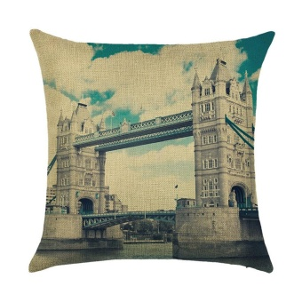 Cotton Linen Square Decor Throw Pillow Case Cushion Cover landscape C - intl
