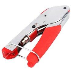 Crimping Pliers Tool Connector Compression Crimper for Coaxial RG6 RG59 F BNC RCA Coax Cable - intl