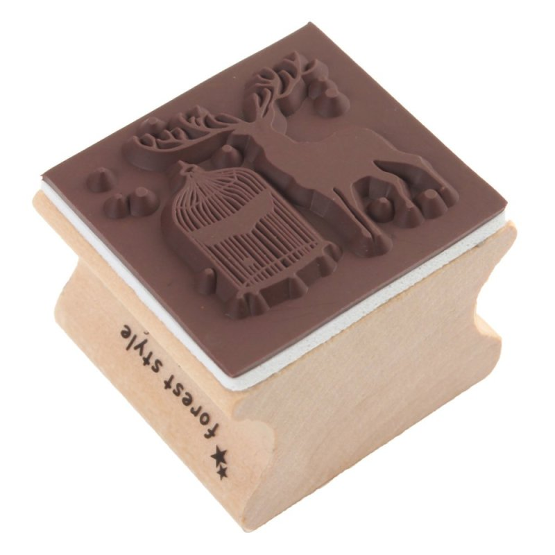 Bảng giá Mua Cute 6 Pattern Wooden Wood Rubber Stamp Stamper Seal Craft Diary Free Choice