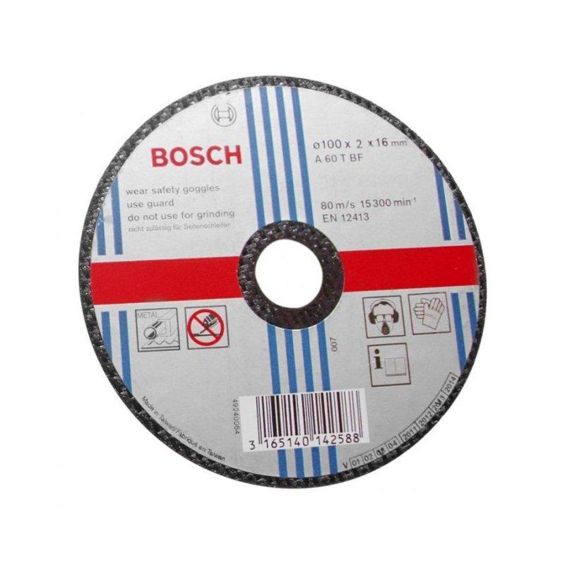Đá cắt sắt Bosch 2608600267 100 x 2 x 16mm (Đen)