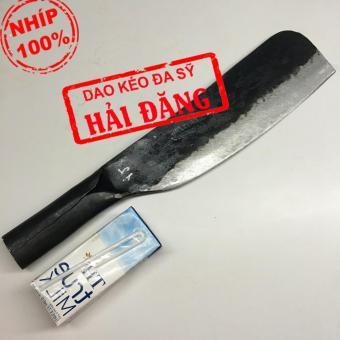 Dao phay (dao chặt) Hải Đăng - Đa Sỹ rèn thủ công bằng nhíp ô tô1200g (Đen) HD03-02