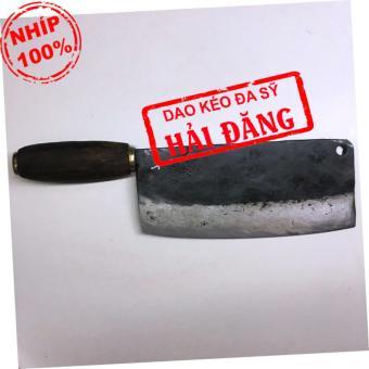 Dao phở chặt xương Hải Đăng - Đa Sỹ rèn thủ công bằng nhíp ô tô700g (cán gỗ) HD16-04