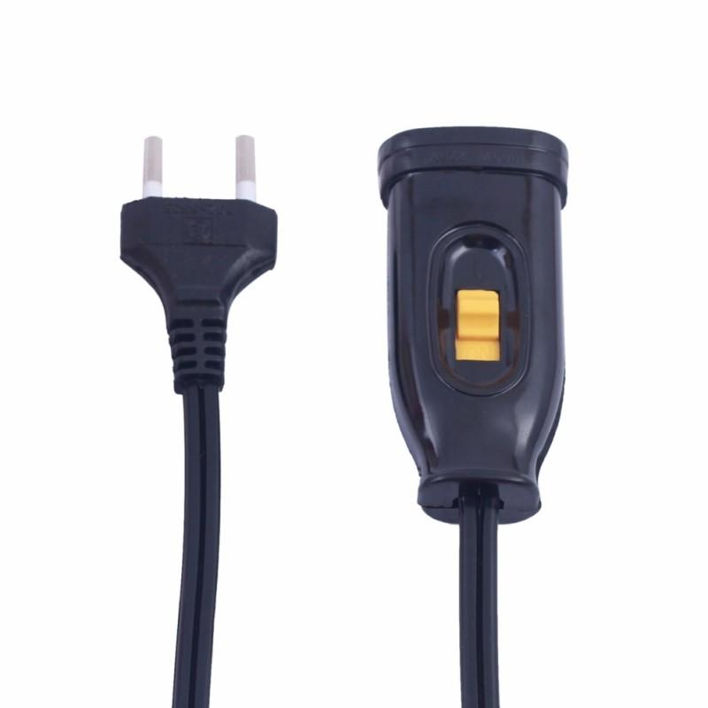 Bảng giá Dây 2,5m nối nguồn điện 220v có công tắc (đen)