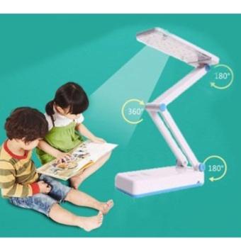 Đèn Bàn Học LED Tích Điện Cảm Ứng 28 Bóng KM-6655C