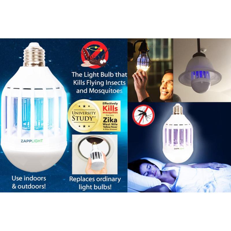 Bảng giá Đèn chiếu sáng diệt muỗi, côn trùng Zapp Light đui xoáy - Hàng nhập khẩu